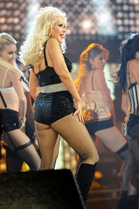 christina aguilera booty pictures