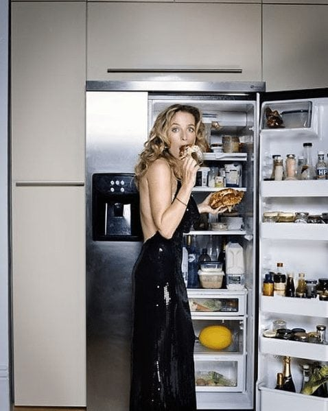 gillian anderson eating