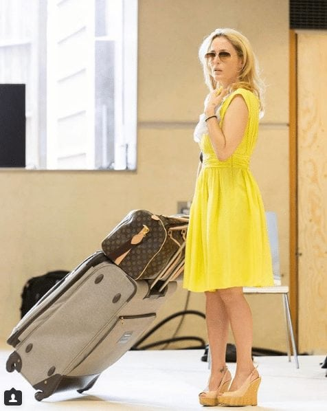 gillian anderson yellow dress