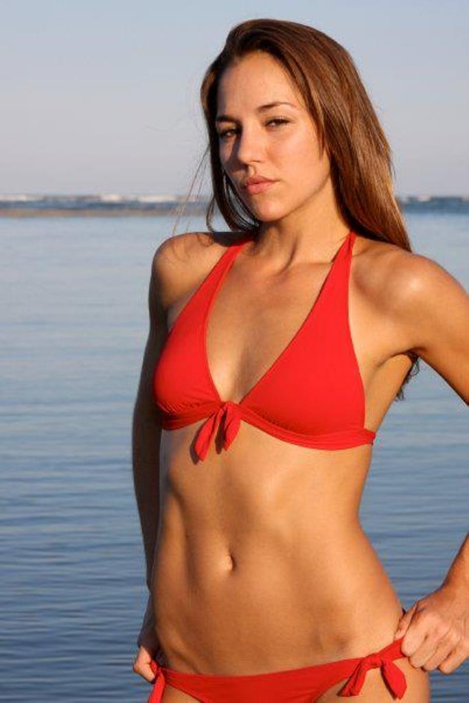 jordan mcdonald red bikini