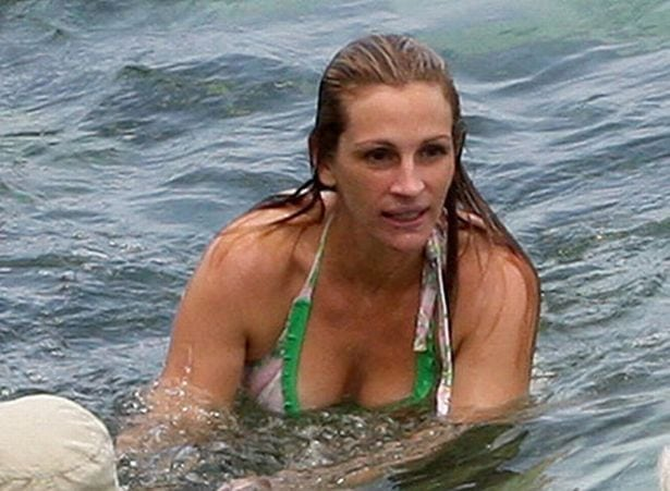 julia roberts in the water