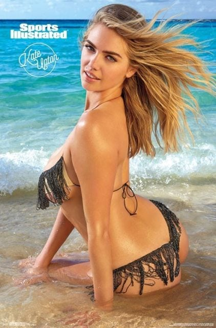 kate upton in water