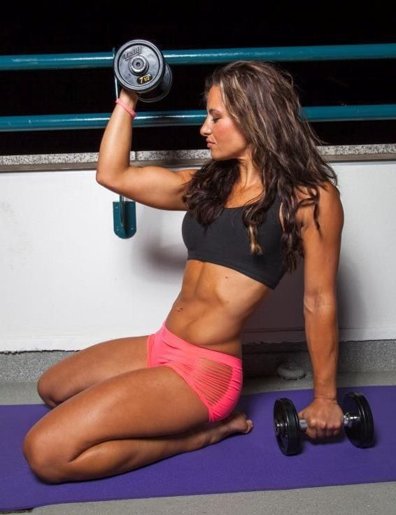 miesha tate work out