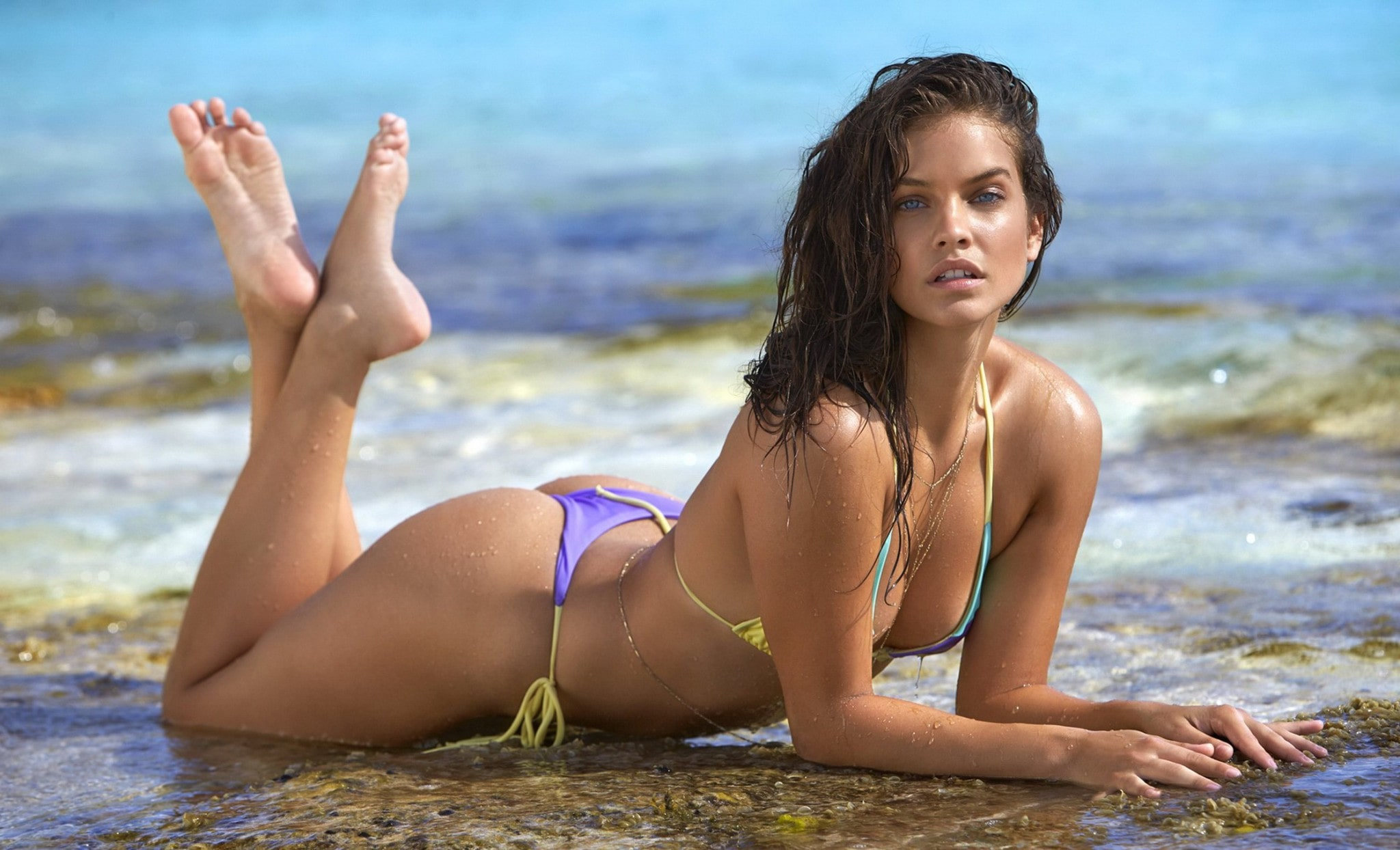 Barbara Palvin on Beach