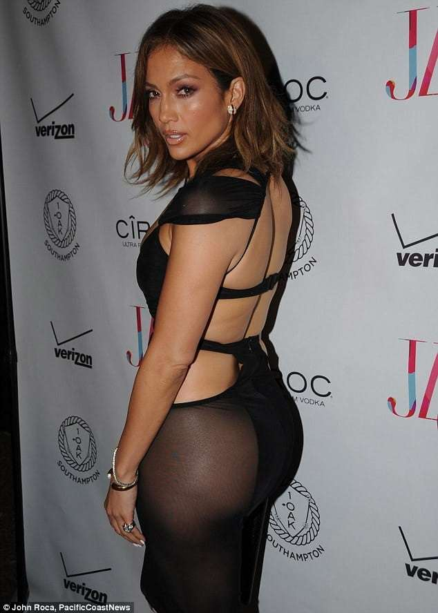 Jennifer Lopez Sexy in Black Dress