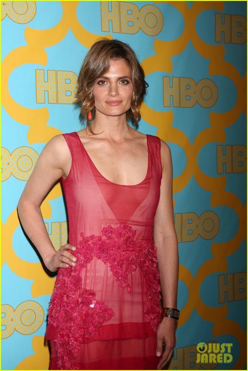 Stana Katic Hot in Red