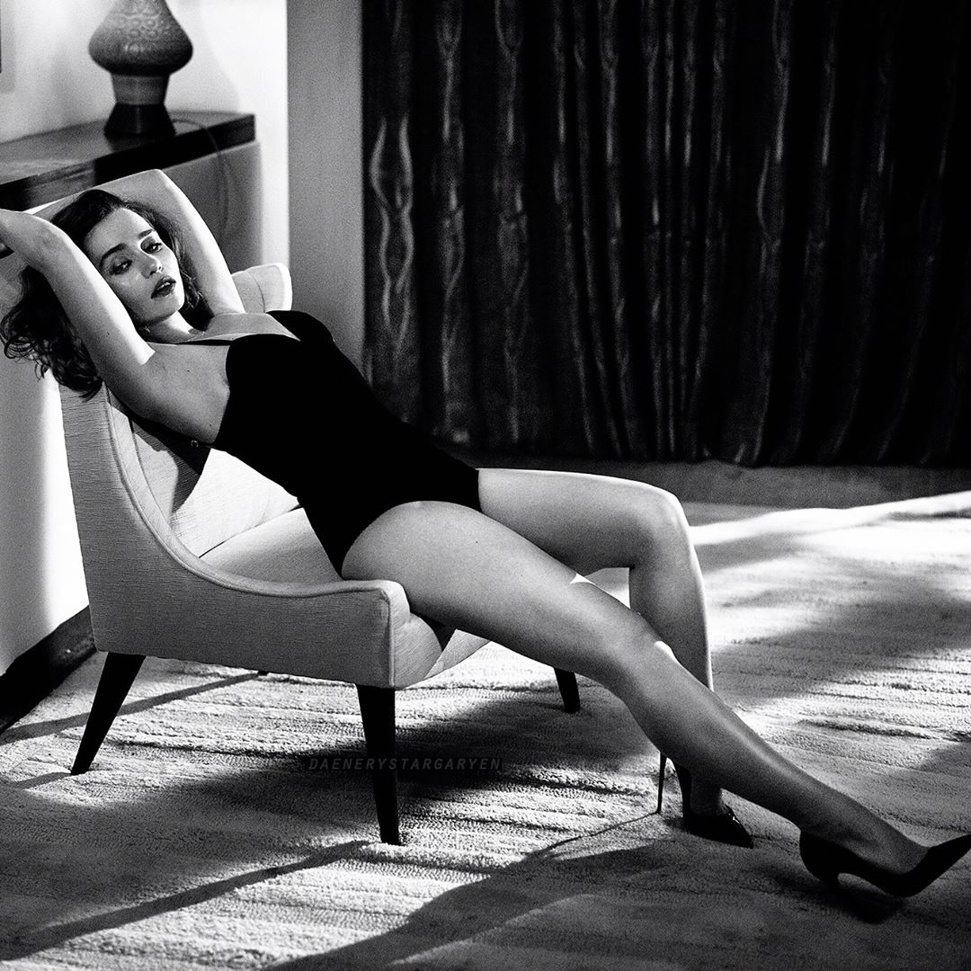 Emilia Clarke Hot in Lingerie