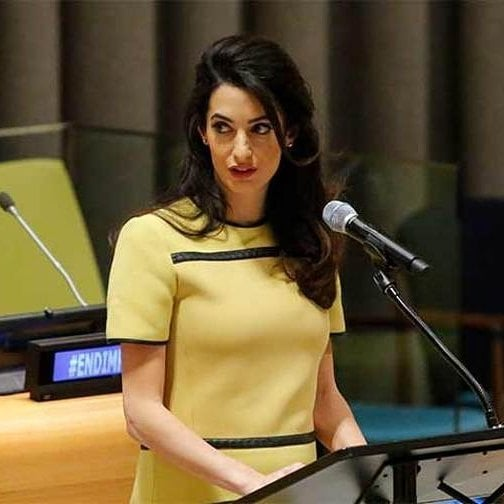 Amal Clooney on Meeting