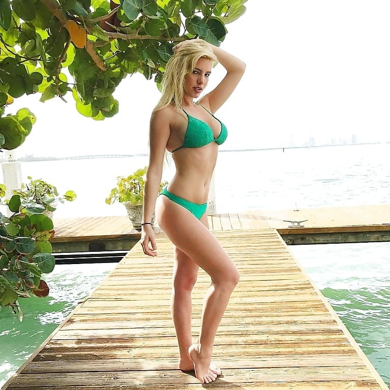 Lele Pons Hot in Green Bikini