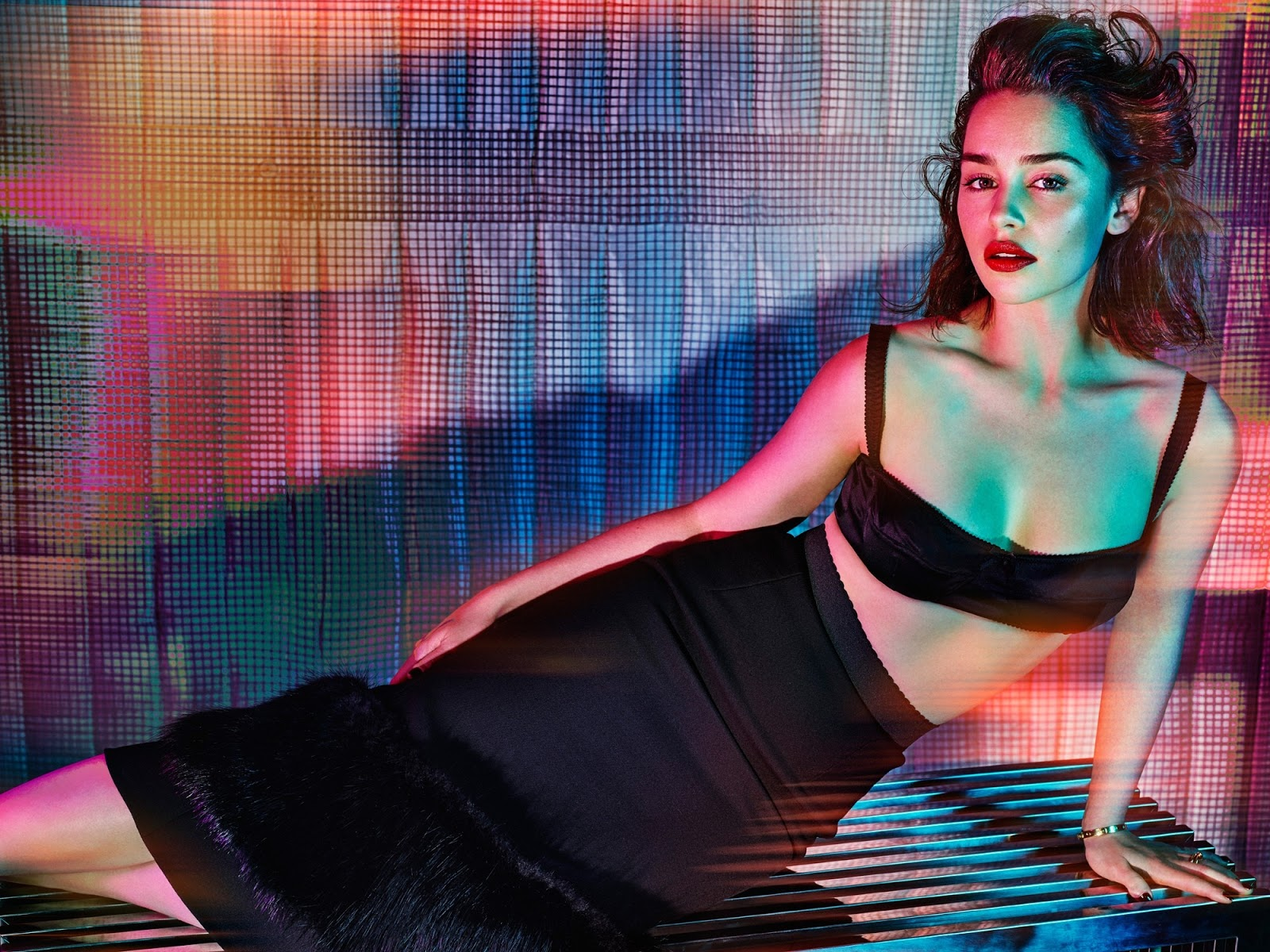 Emilia Clarke Hot in Black