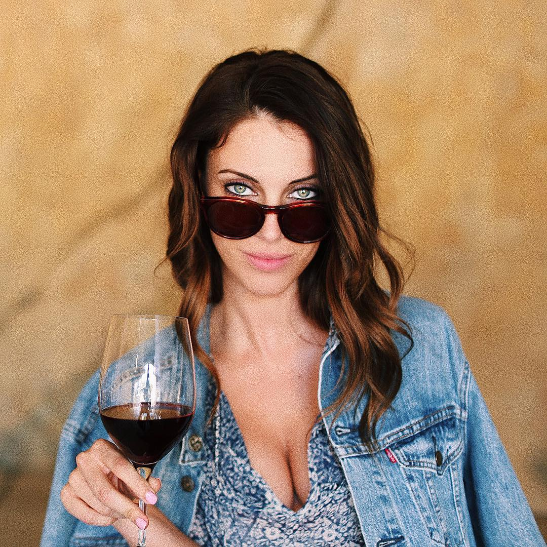Jessica Lowndes Drinking Bear
