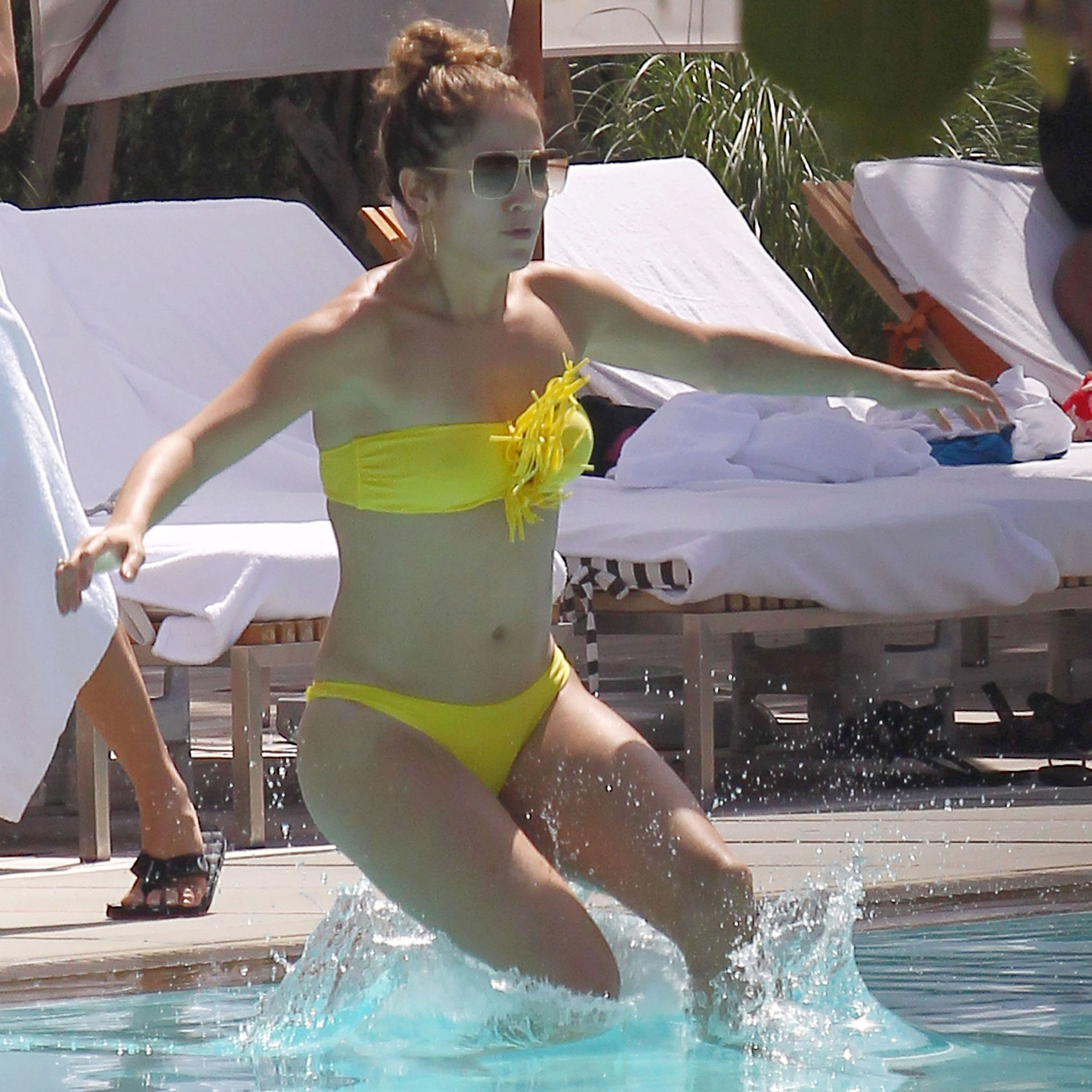 Jennifer Lopez in Yellow Bikini