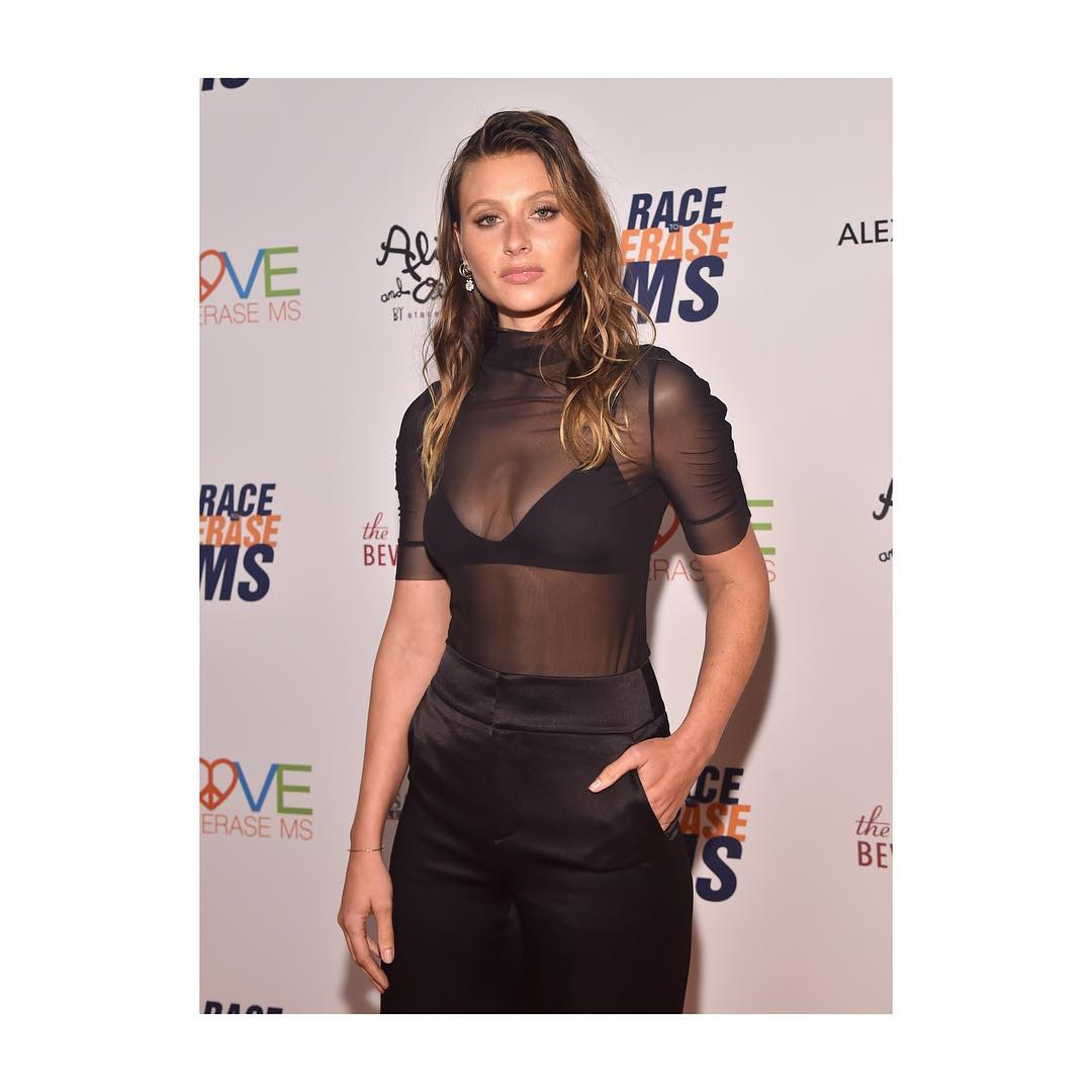 Aly Michalka Hot in Black