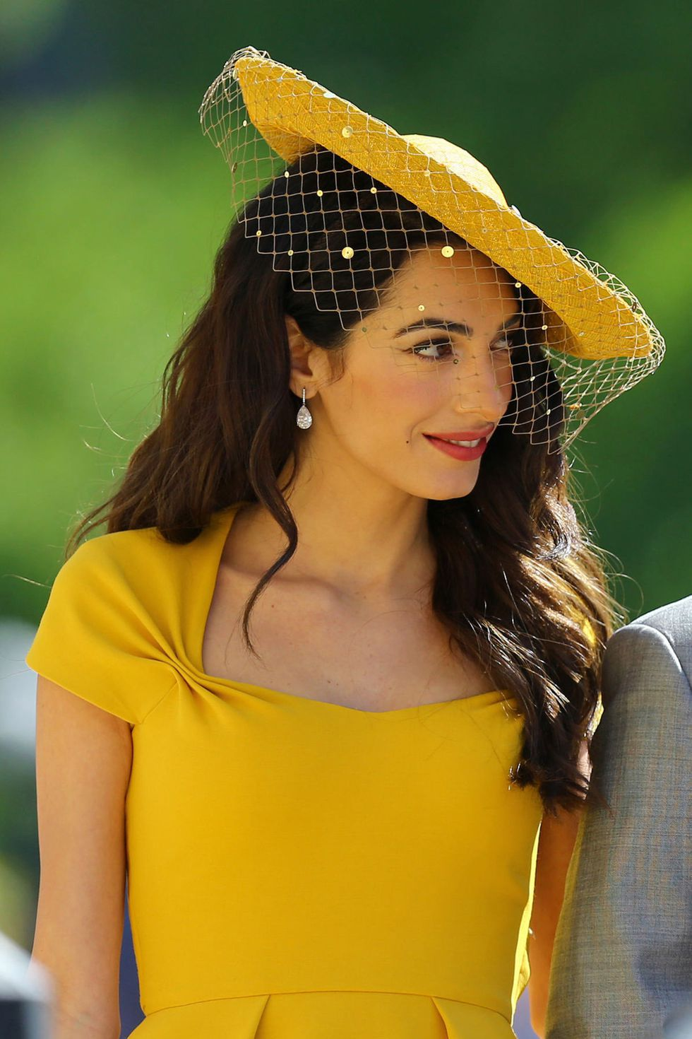 Amal Clooney Sexy in Yellow