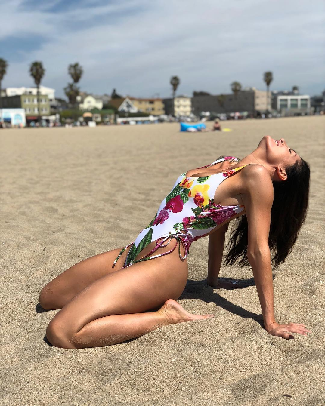 Trace Lysette on Beach