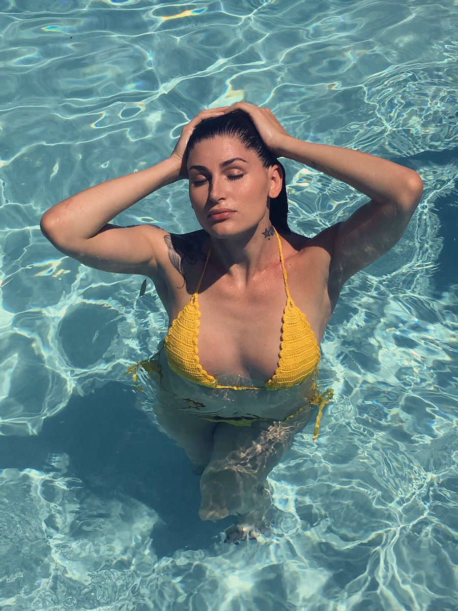 Trace Lysette on Swimming Pool