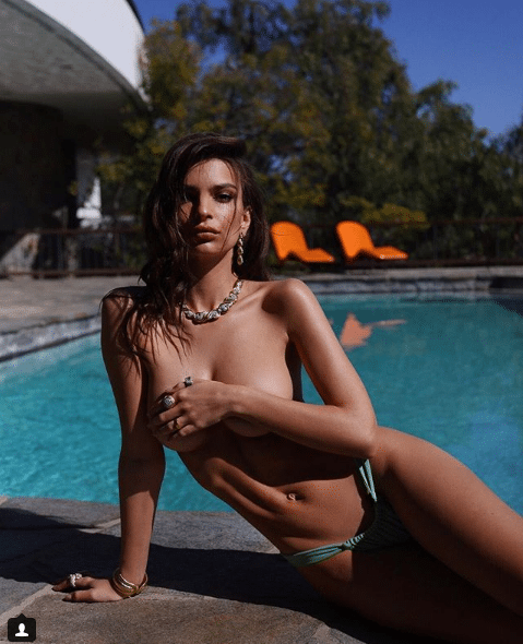 Emily Ratajkowski on Swimming Pool
