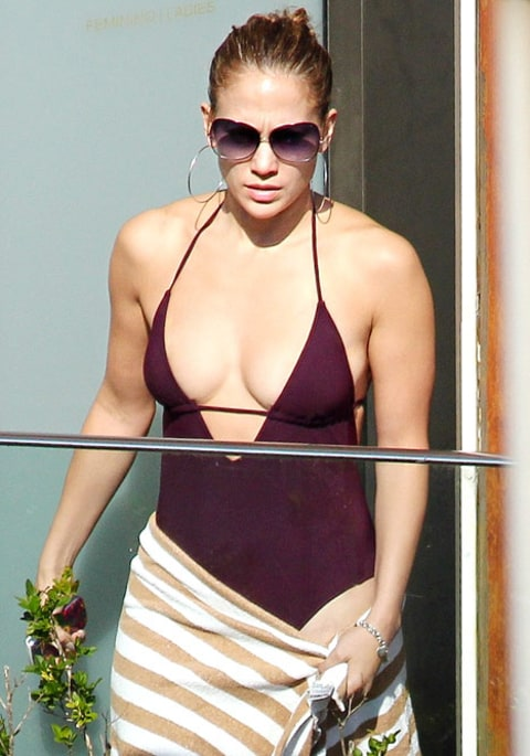 Jennifer Lopez on Swimming Pool