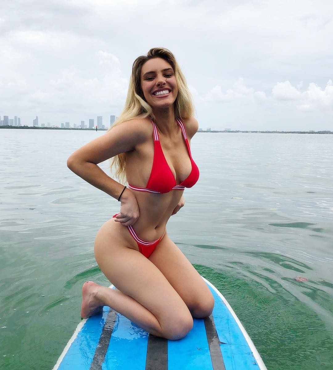 Lele Pons Hot in Red Bikini