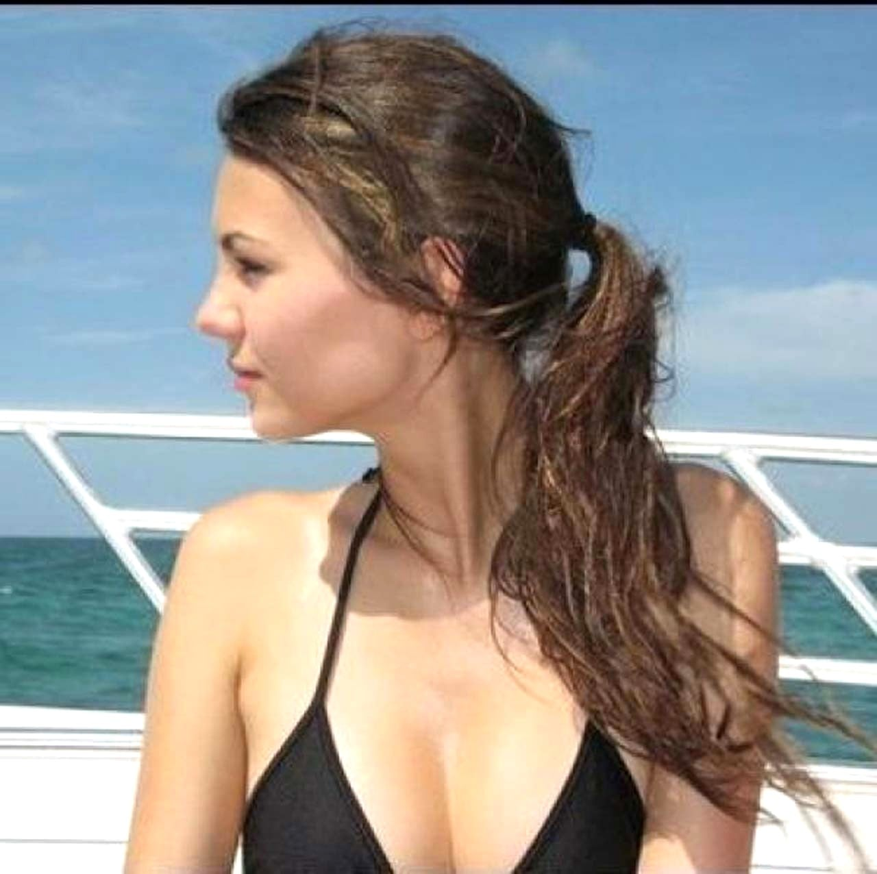 Victoria Justice on Boat