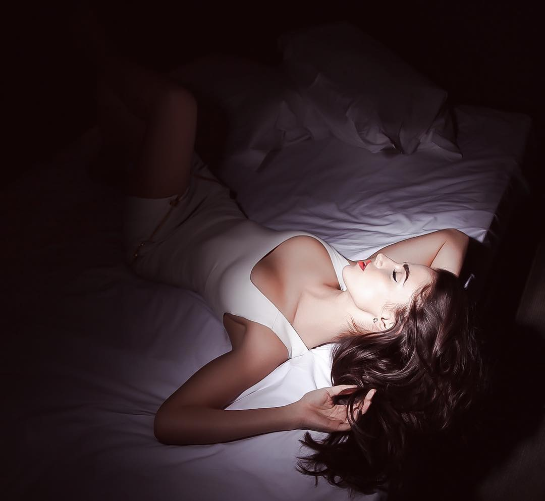 Jessica Lowndes on Bed