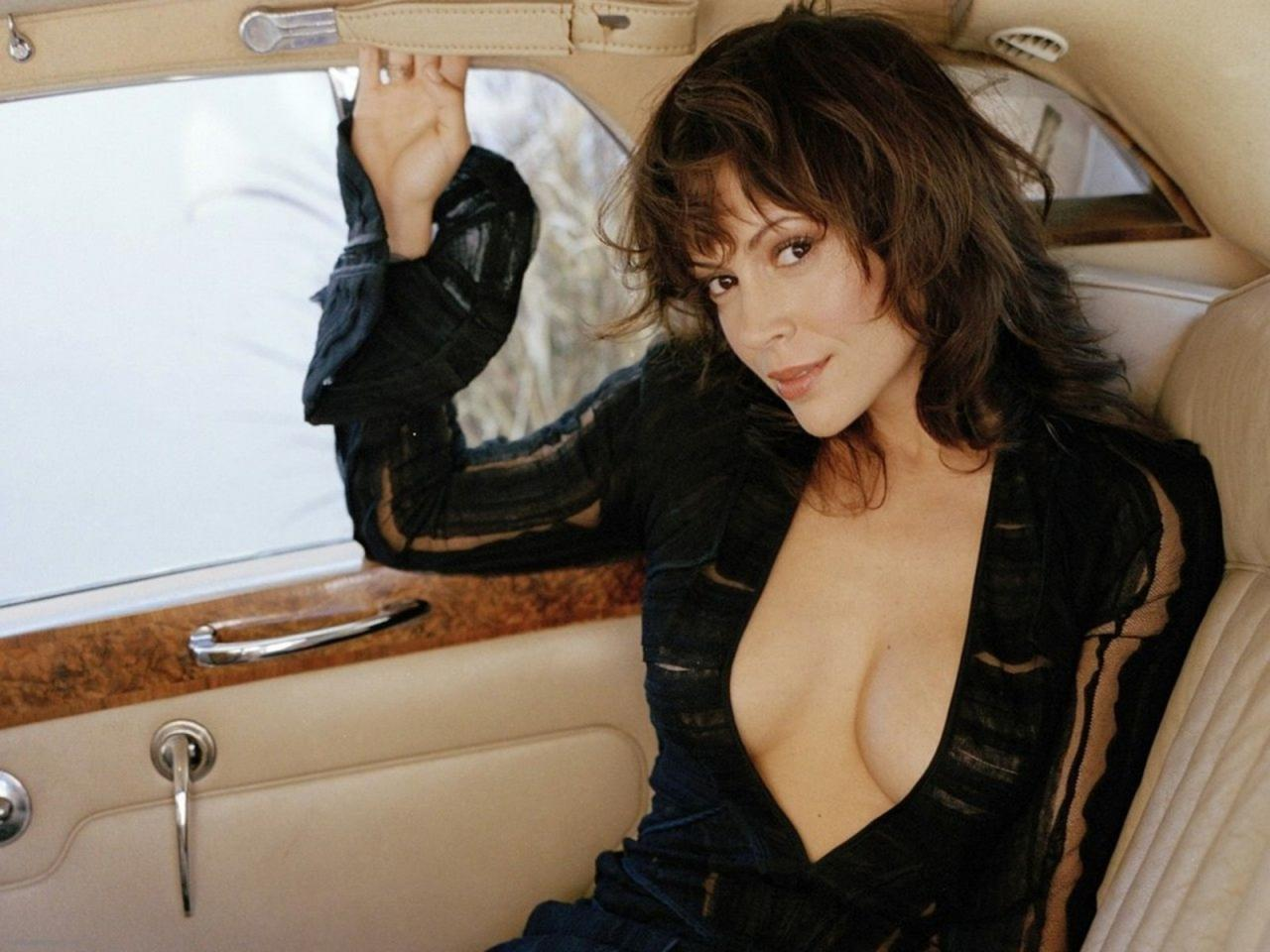 Alyssa Milano Hot in Black