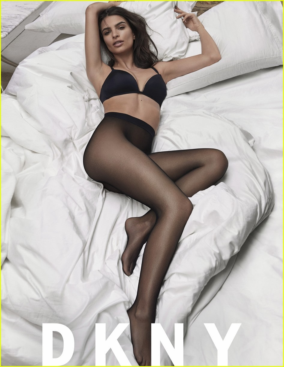 Emily Ratajkowski on Bed