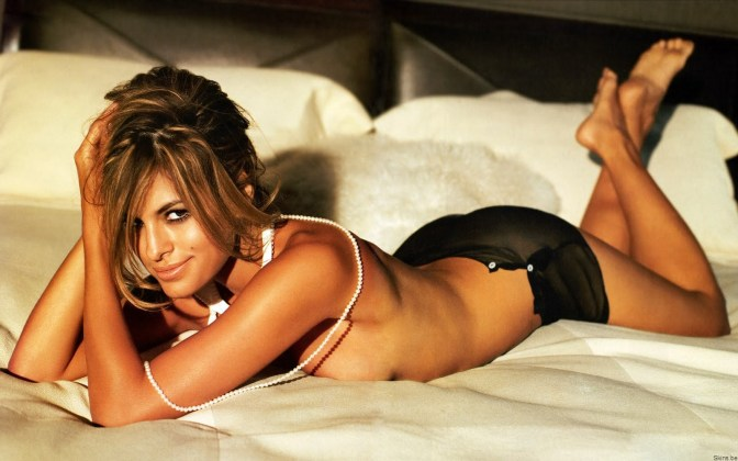 Eva Mendes on Bed