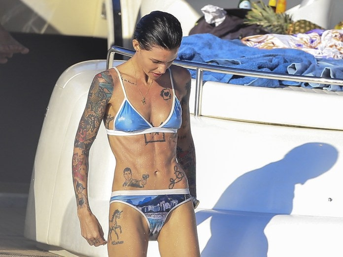 Ruby Rose on Boat