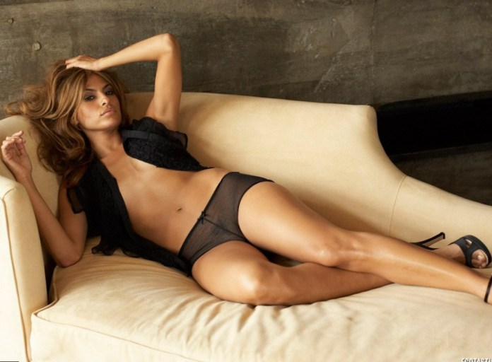 Eva Mendes on Sofa