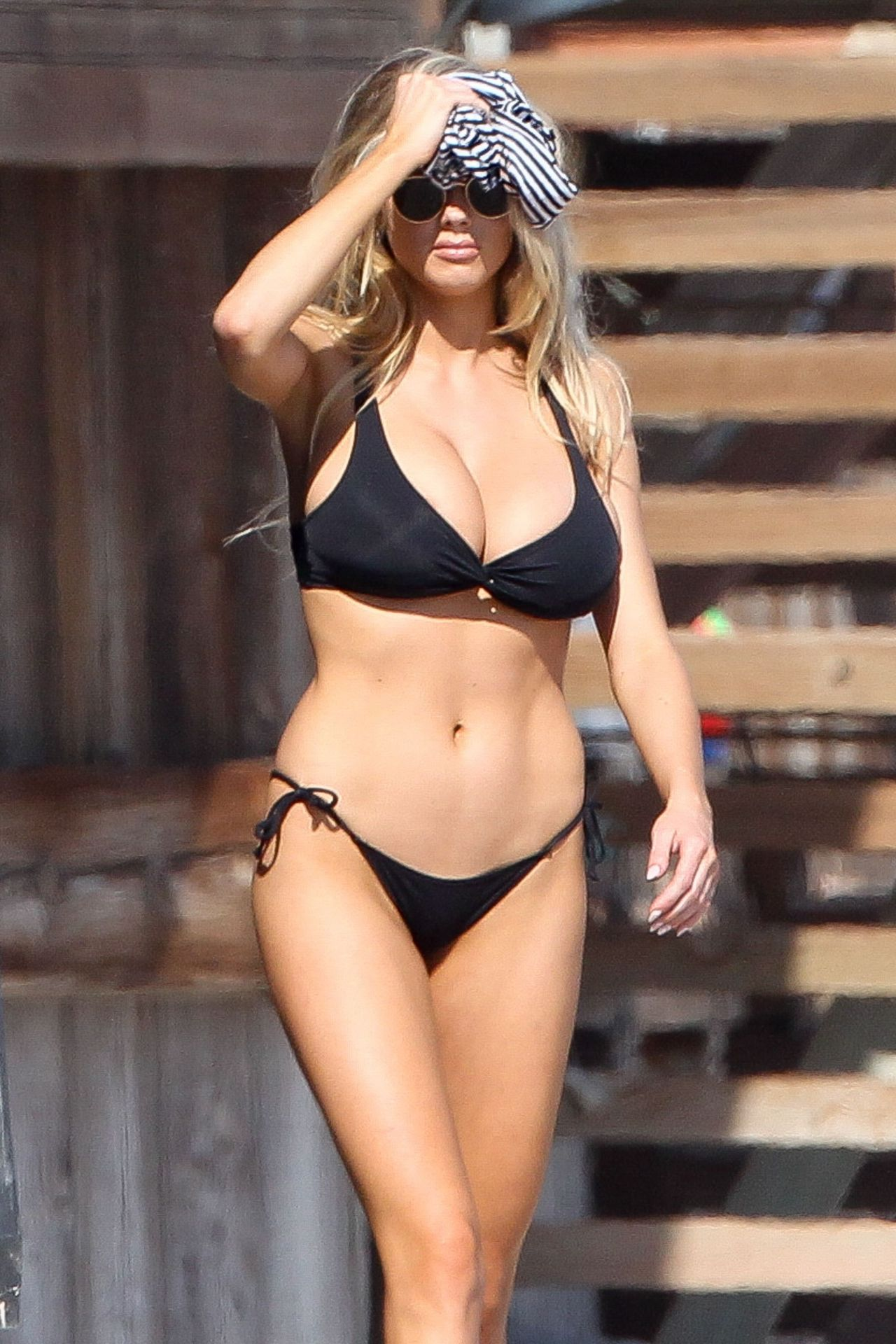 Charlotte Mckinney Hot in Black Bikini