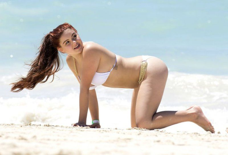 ariel winter beach