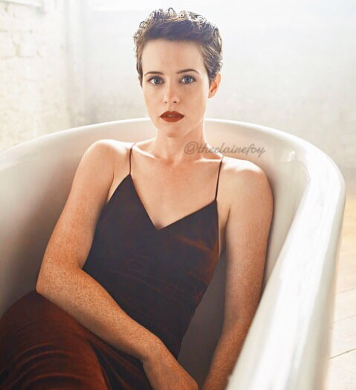 claire foy bathing