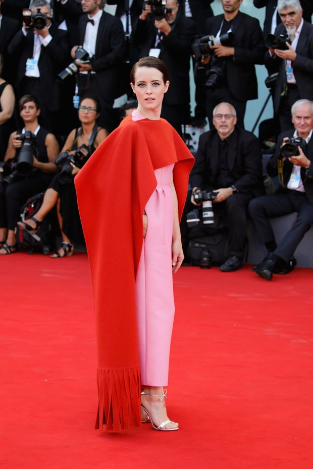 claire foy red carpet
