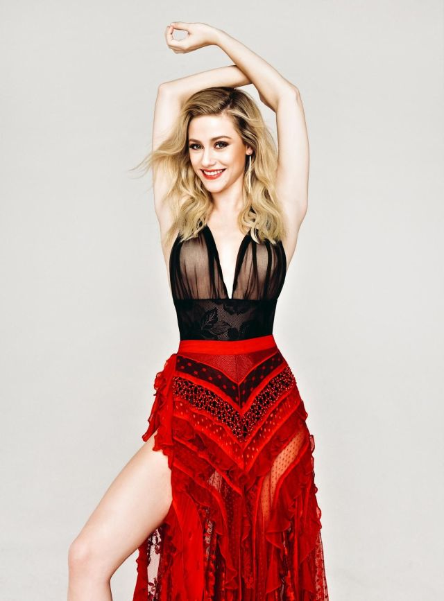 lili reinhart red dress