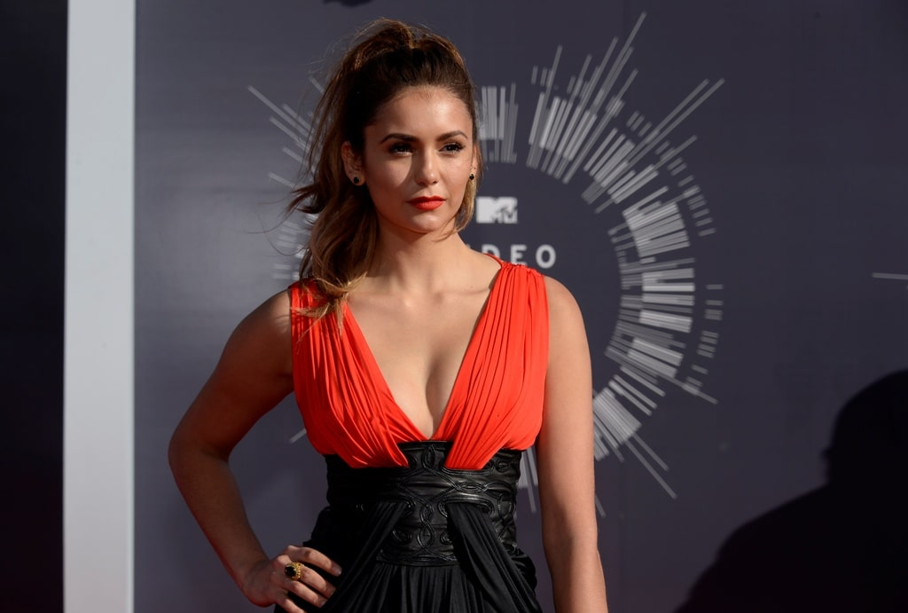 nina dobrev hot cleavage