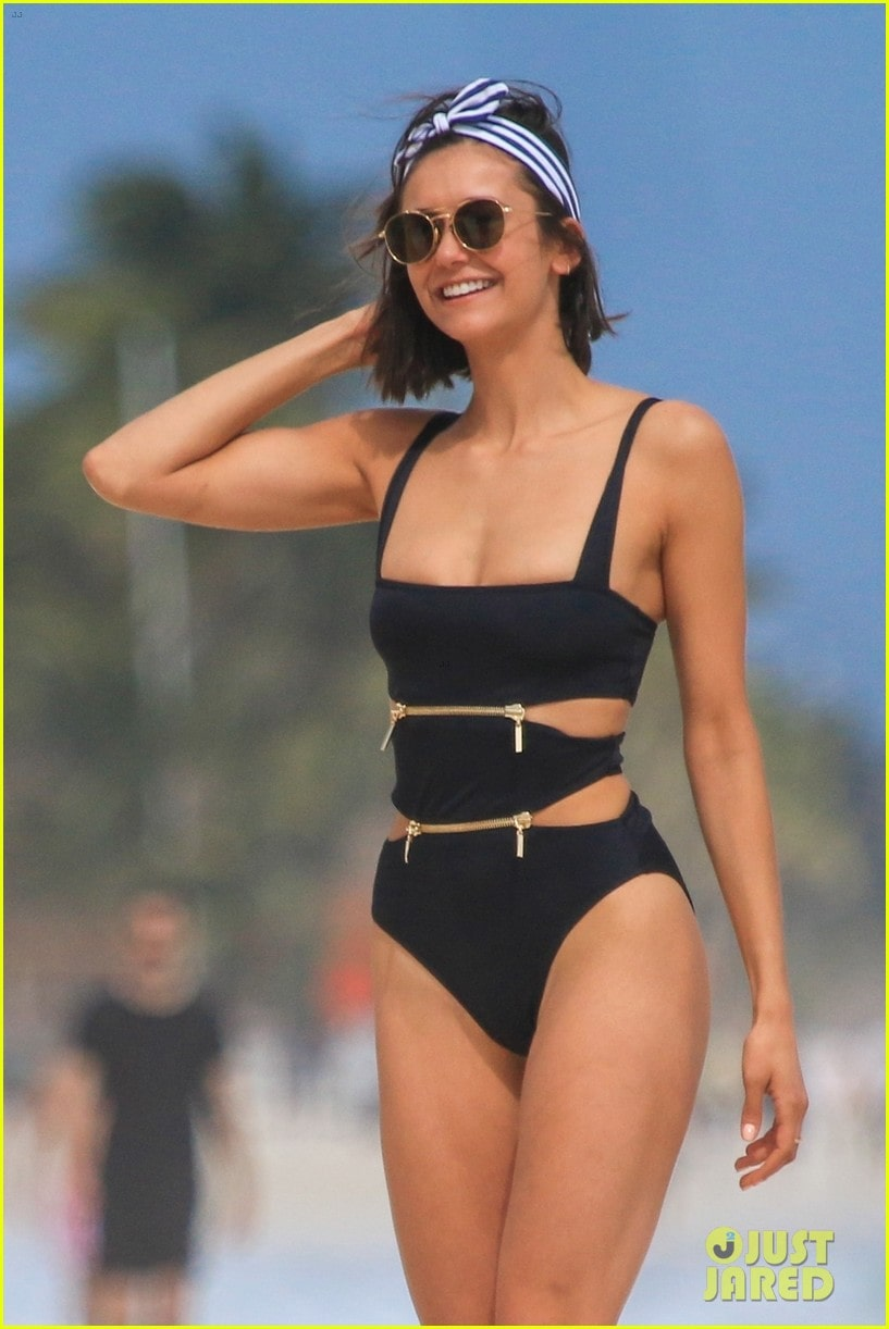 nina dobrev in swimsuit