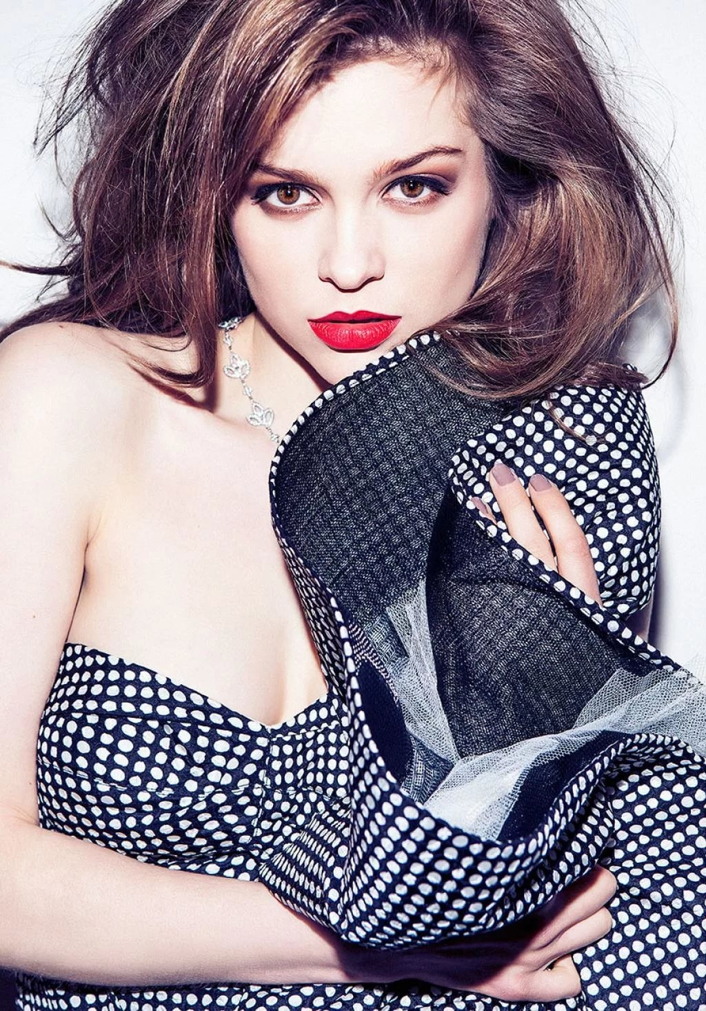 Sophie Cookson Red Lips