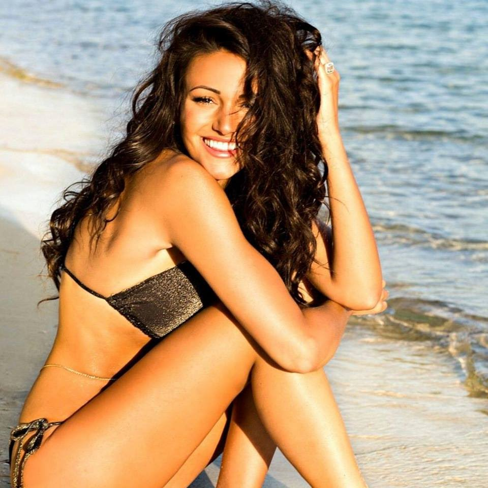 Michelle Keegan on Beach