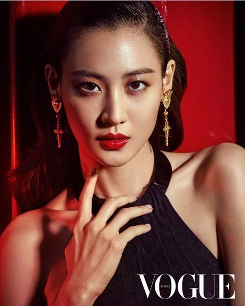 Claudia Kim Red Lips