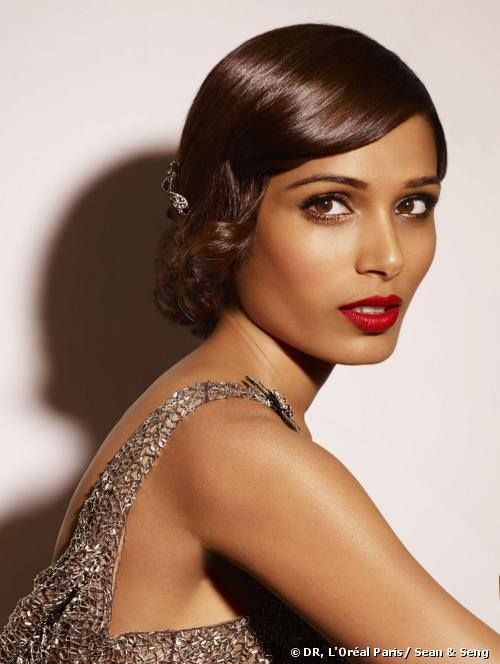 Frieda Pinto Red Lips
