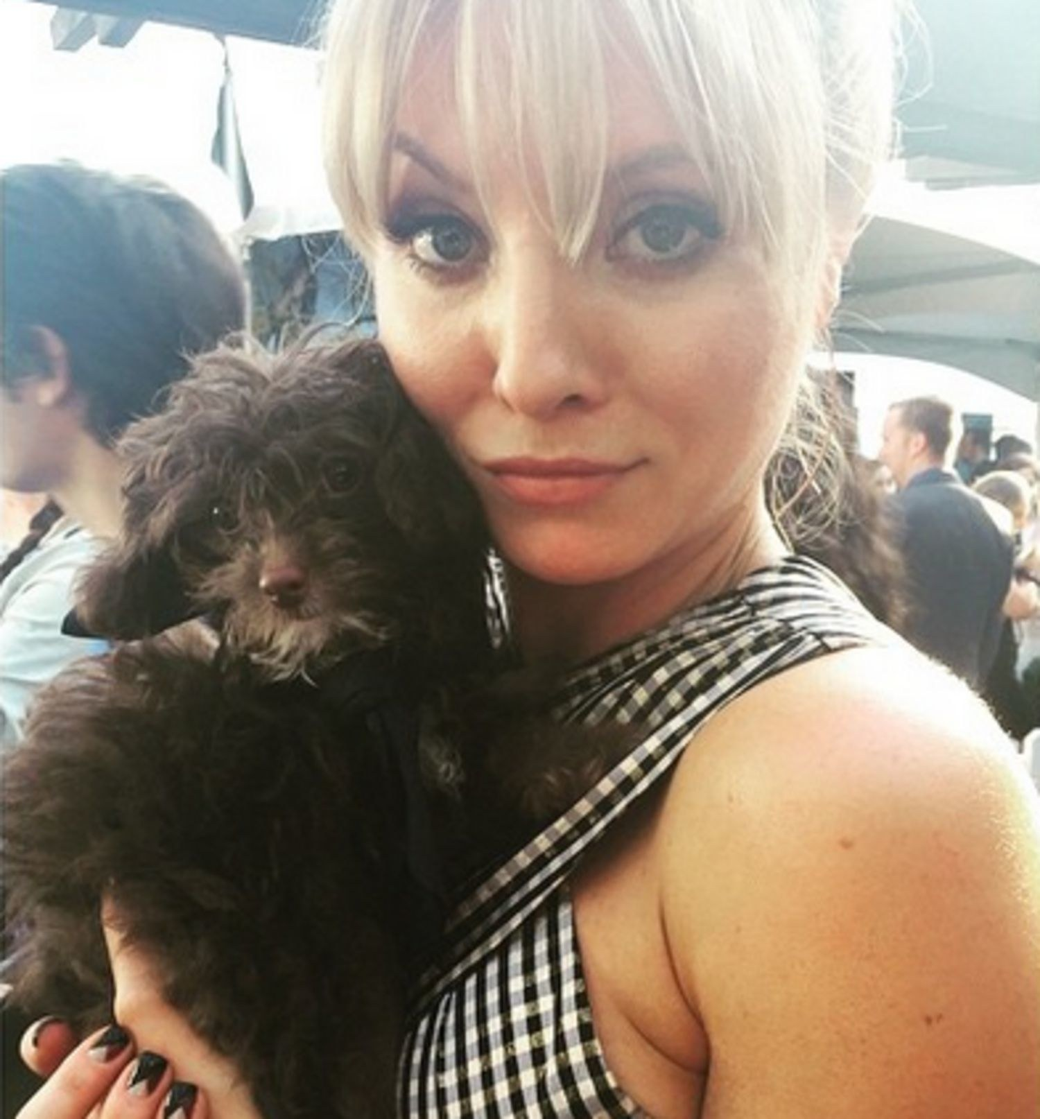 Kaitlin Doubleday with Dog