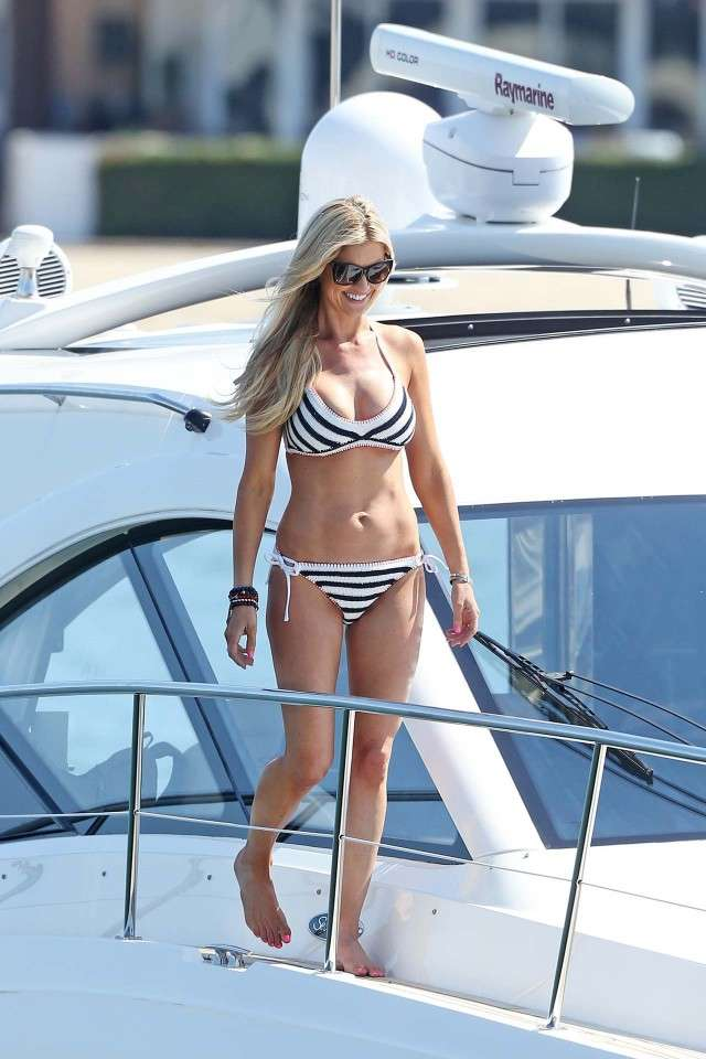 Christina El Moussa on Boat