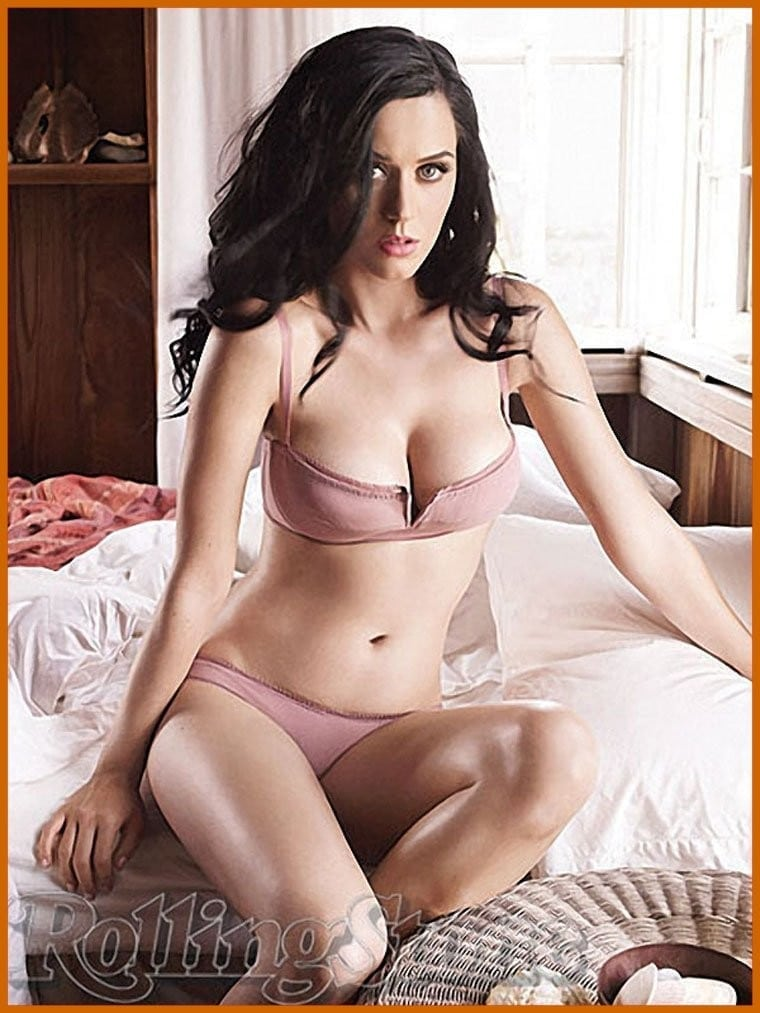 Katy Perry on Bed