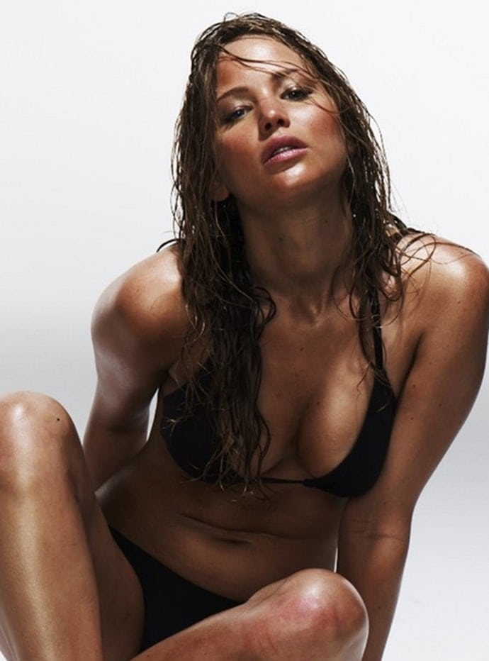 Jennifer Lawrence bikini black