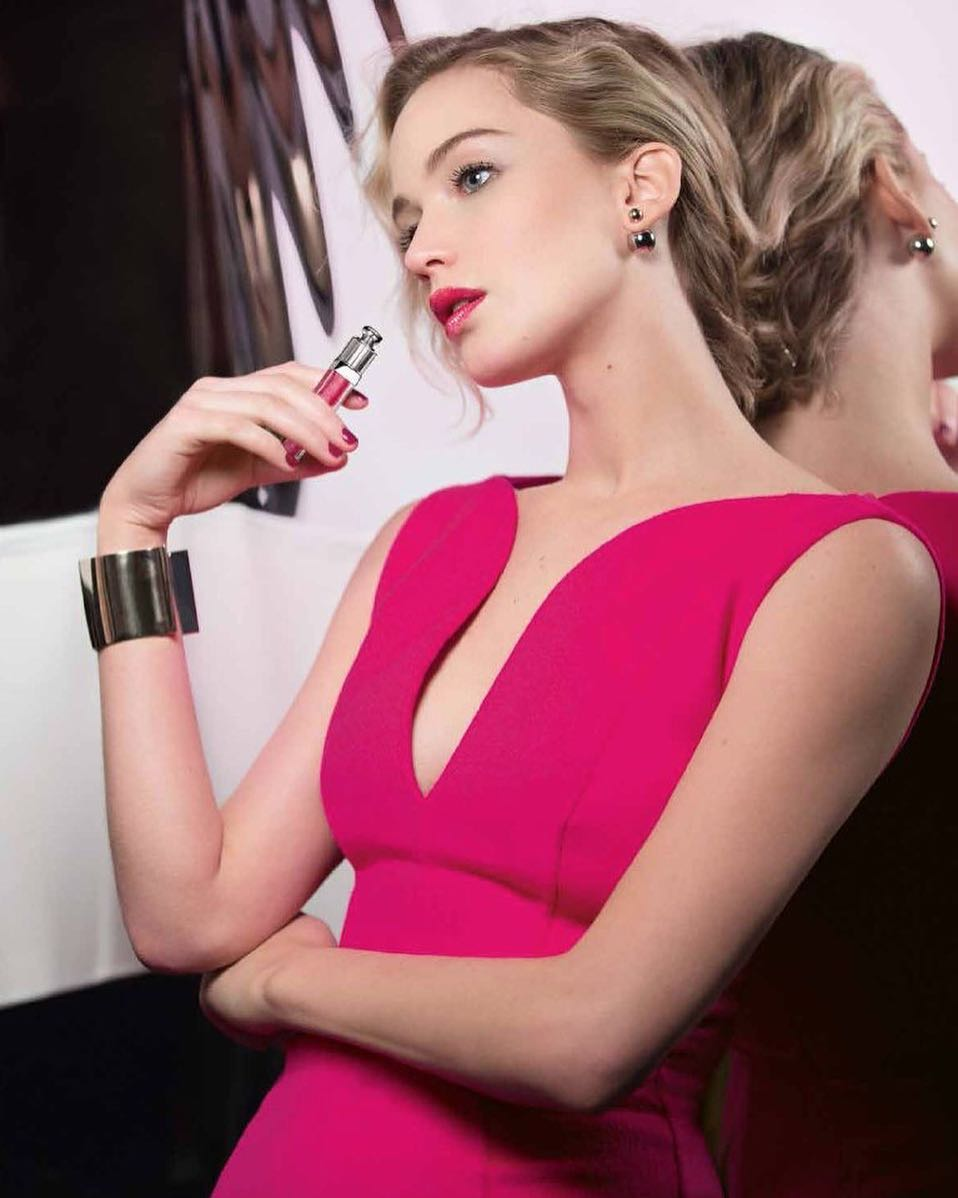 Jennifer Lawrence pink dress