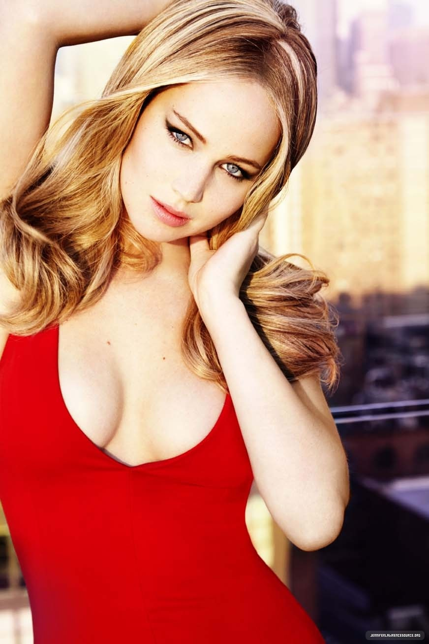 Jennifer Lawrence red hot dress