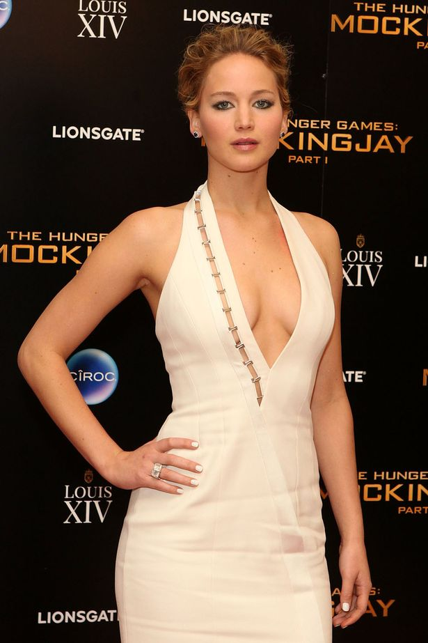 Jennifer Lawrence white dress hot