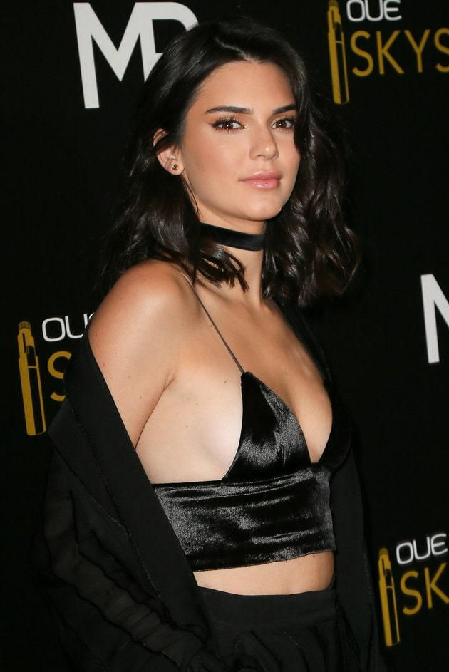 Kendall Jenner Sexy on Black Dress