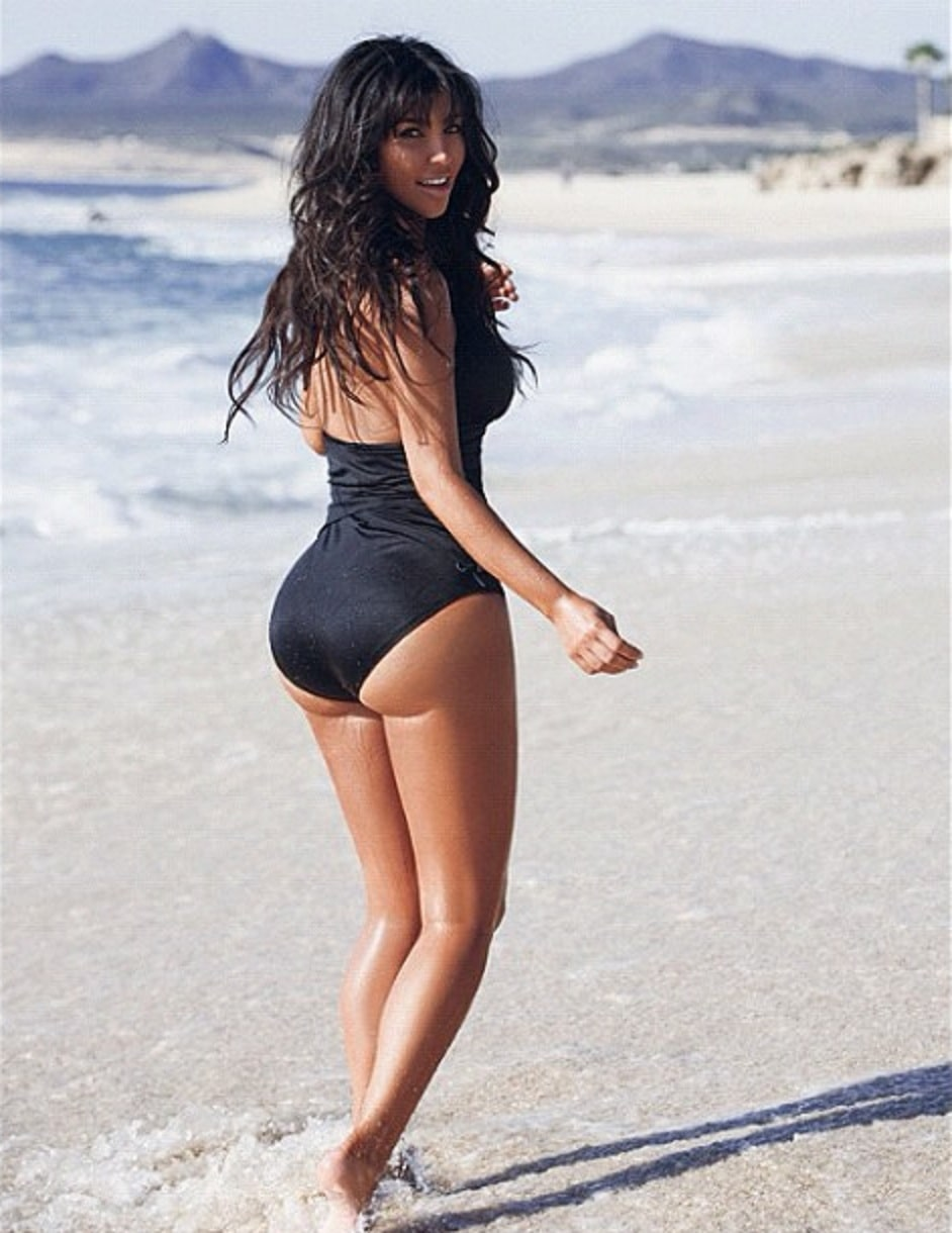 Kim Kardashian on Beach